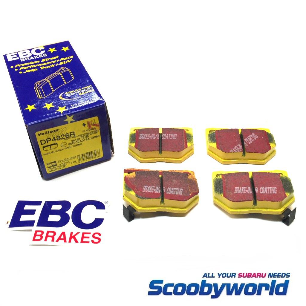 EBC Yellowstuff Track Brake Pads Front /& Rear Set for Subaru WRX STi w//Brembo