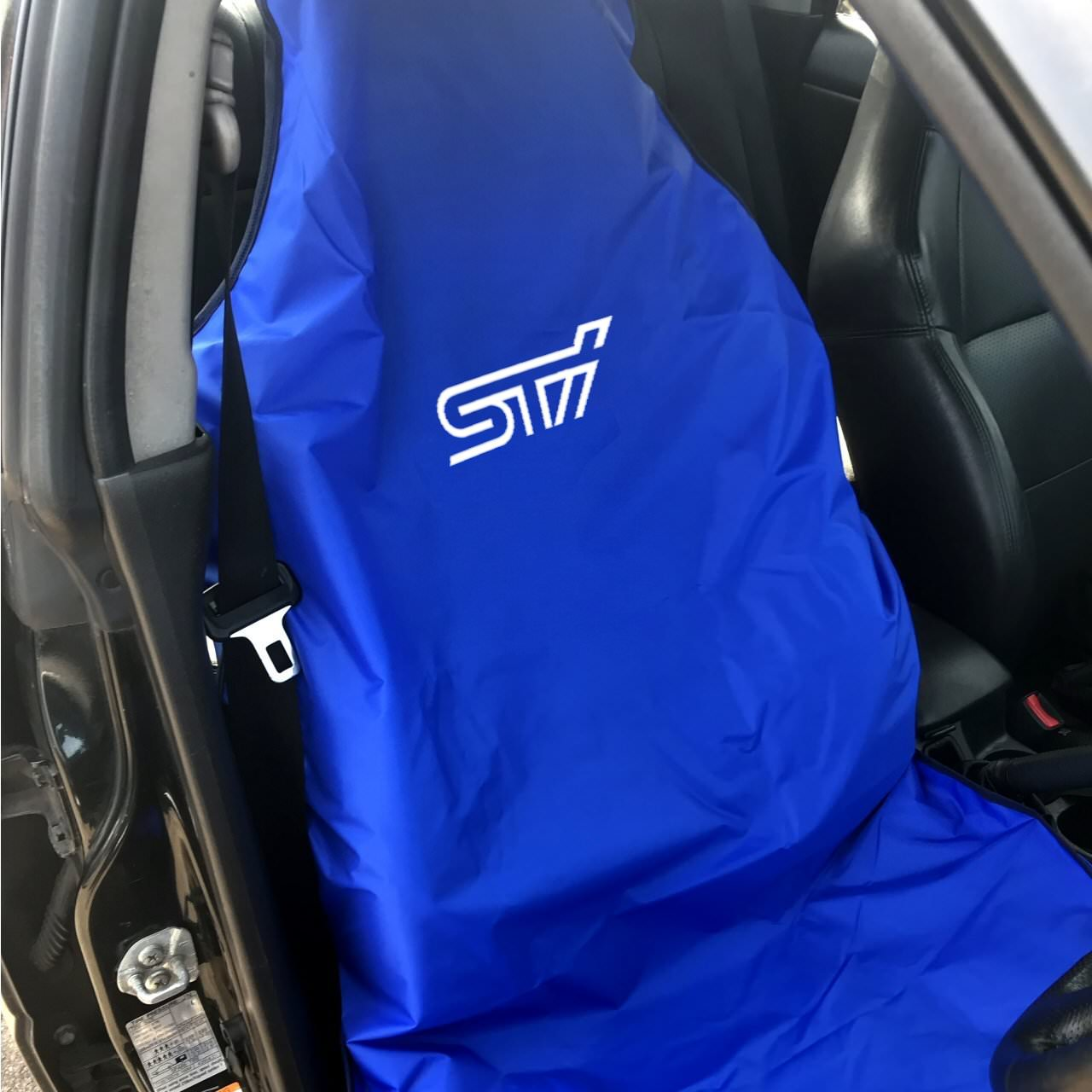 Blue With Scoobyworld Logo Seat Cover For All Impreza Forester Legacy Models