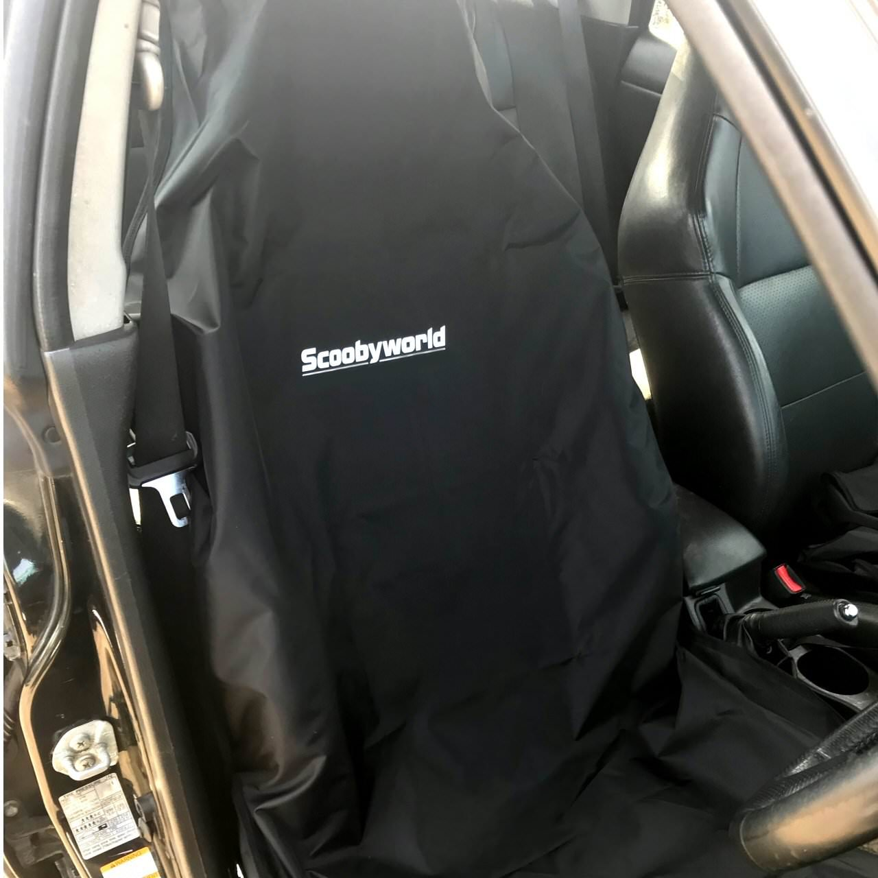 Black With Scoobyworld Logo Seat Cover For All Impreza Forester Legacy Models